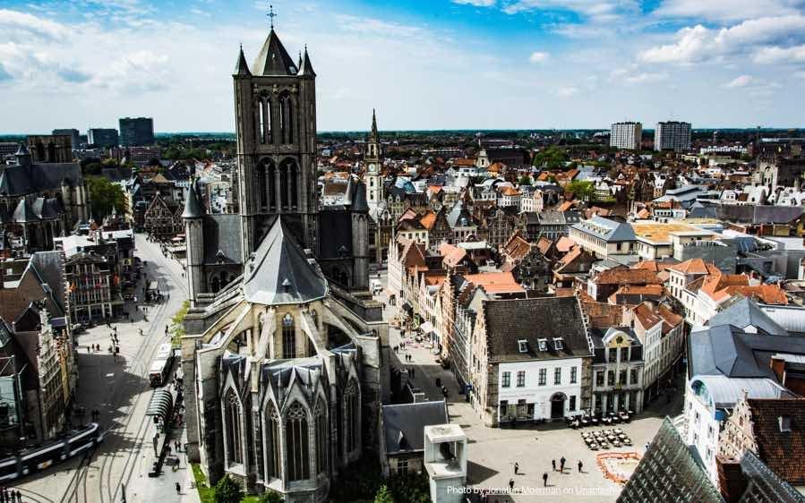 BELGIUM-SKYVIEW-CITY