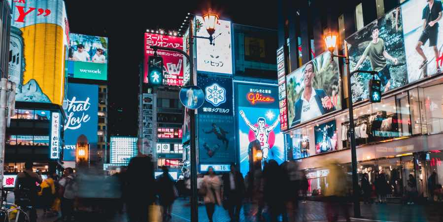 Japan-osaka-night-scene