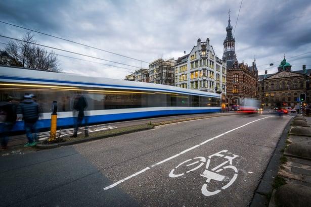 Traffic on Raadhuisstraat, in Amsterdam, The Netherlands..jpeg