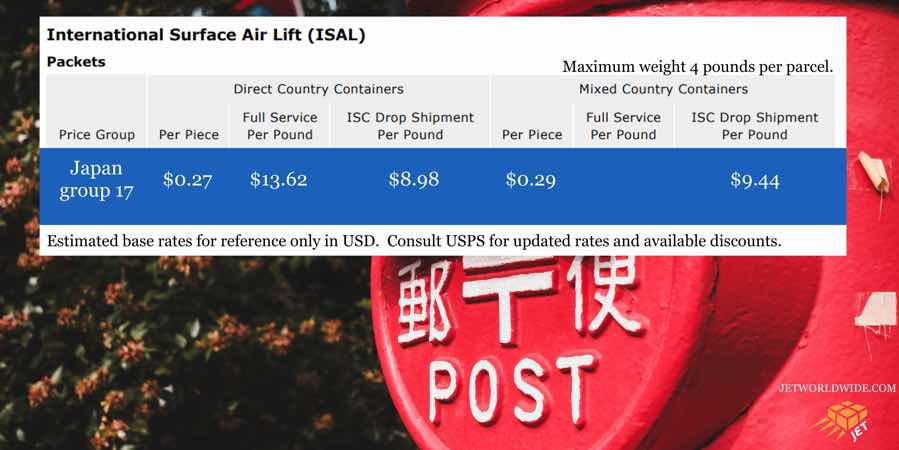 USPS-ISAL-Rates-Japan-graphic