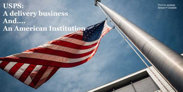 USPS-flag-blue-sky