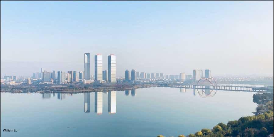 china-Aixi-Lake-Nanchang-skyline