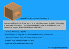 commercial invoice brazil parcel