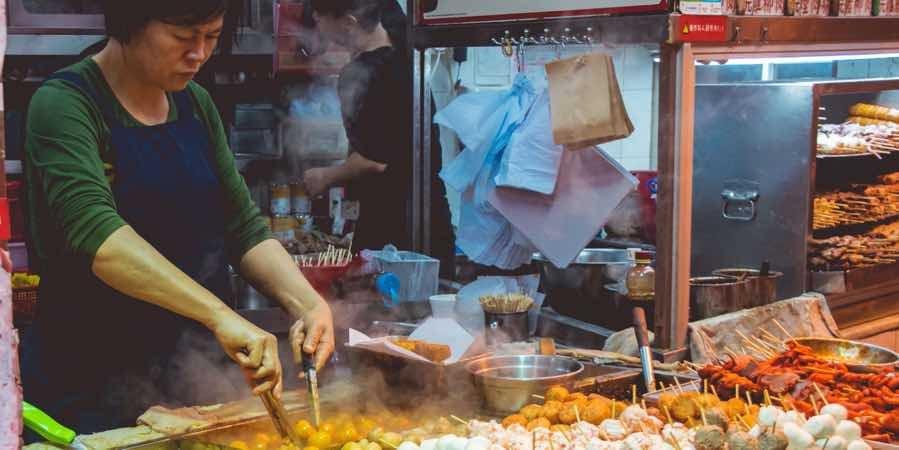 hong kong outdoor food market