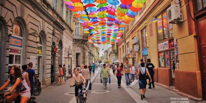 romania-colorful-street-umbrella