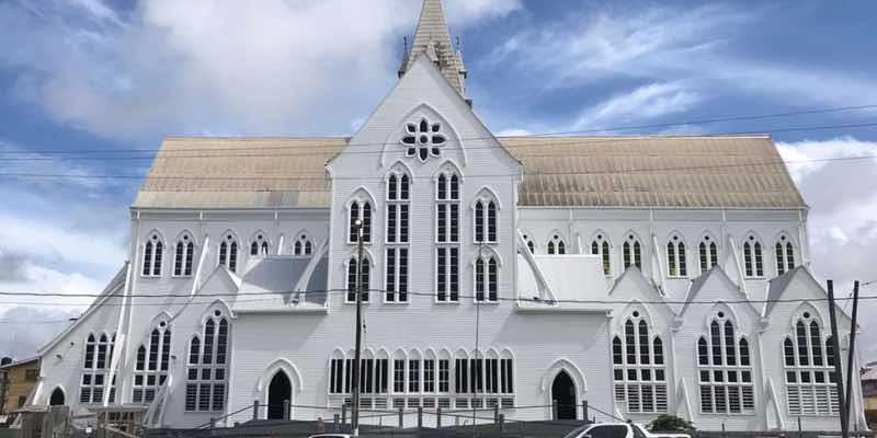 Guyana-georgtown-white-church-building