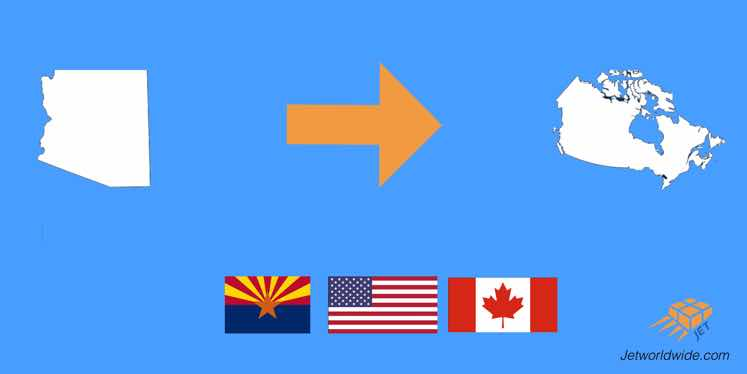 Low Cost shipping Canada from Arizona