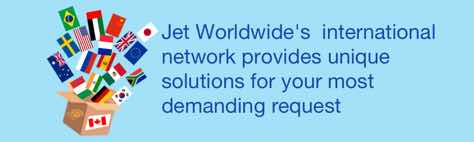 international parcel delivery with jet Worldwide